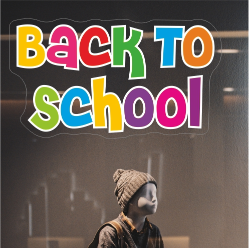 Colourful Back To School Sticker