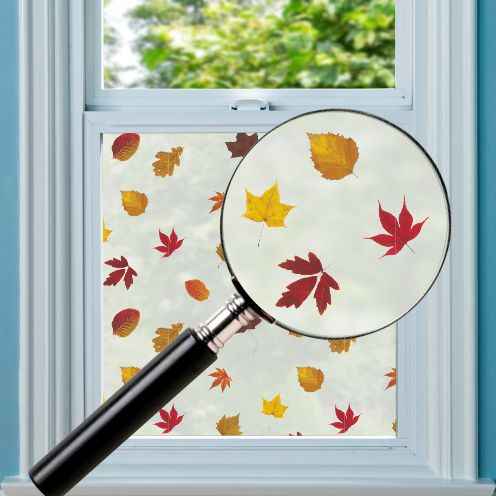 Autumn Leaves Pattern Window Film
