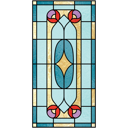 Constance b for Decorative window film stained glass victorian