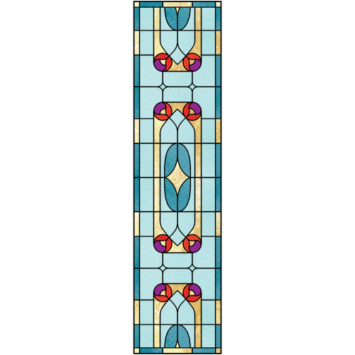 Constance d for Victorian stained glass window film