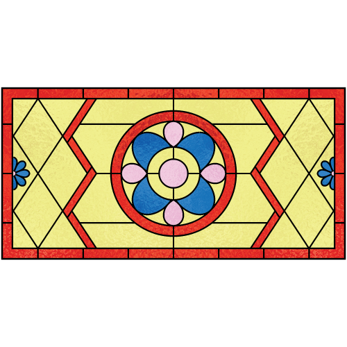 Clarissa c for Victorian stained glass window film