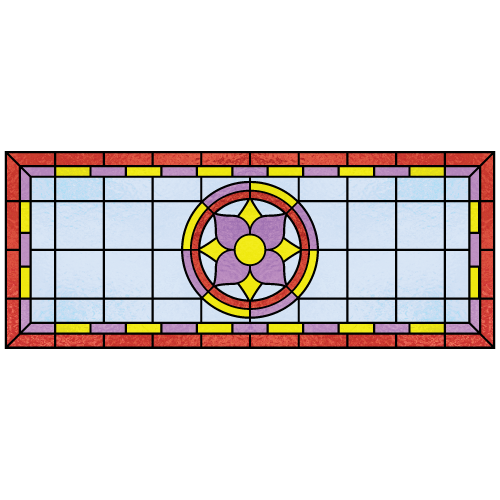 Winifred c for Victorian stained glass window film