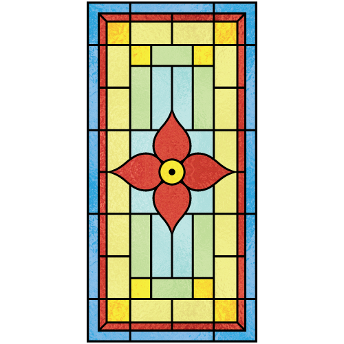 Beatrice b for Victorian stained glass window film