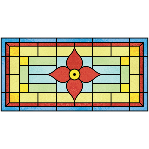 Beatrice c for Victorian stained glass window film