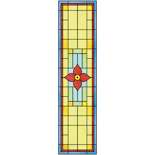 Beatrice d for Victorian stained glass window film