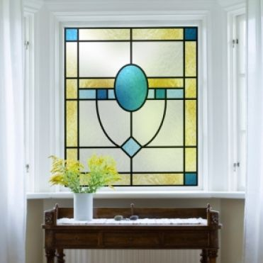 Stained Glass Effect Window Film By Purlfrost