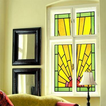 Art deco glass window film made easy by purlfrost for Art deco glass windows