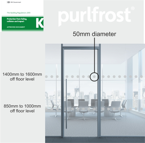 Window Manifestation Strips 100mm Purlfrost