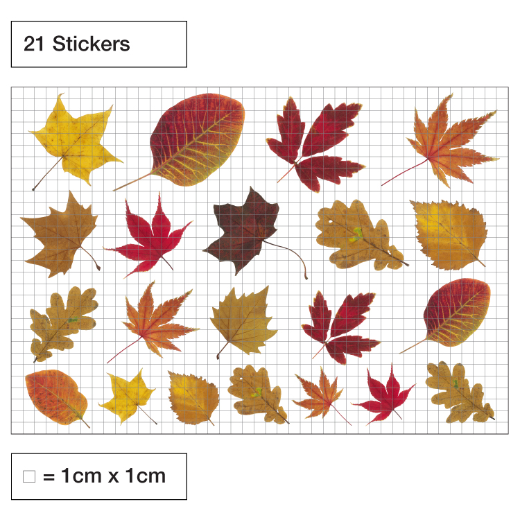 Leaves Pack Of Window Stickers Purlfrost