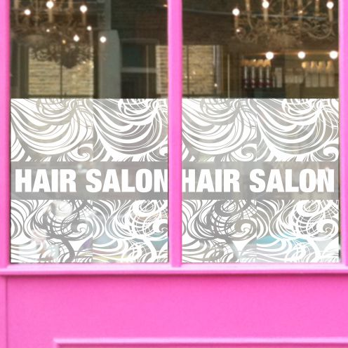 Banner for Hair Salon Window 7