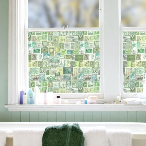 Green Stamps Window Film