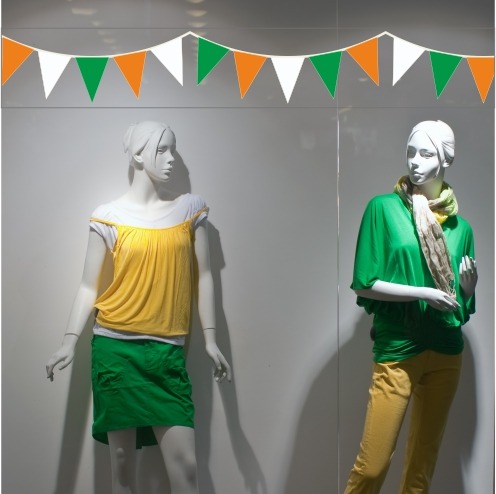Orange White And Green Bunting