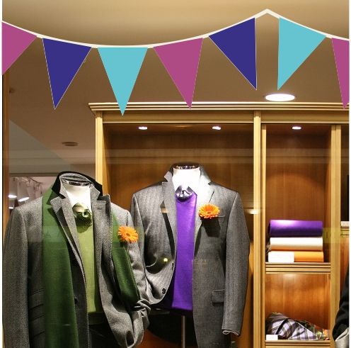 Purple Mauve And Blue Bunting