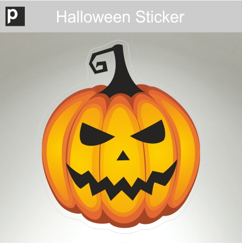 Meany Pumpkin Sticker