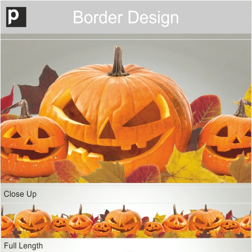 Jack O'Lantern Border Sticker
