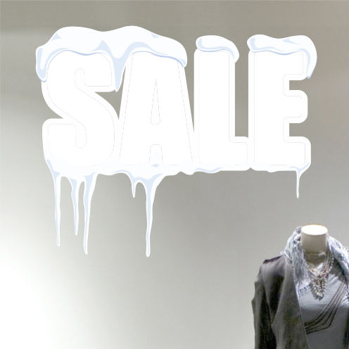 Snow Drift Winter Sale Sticker