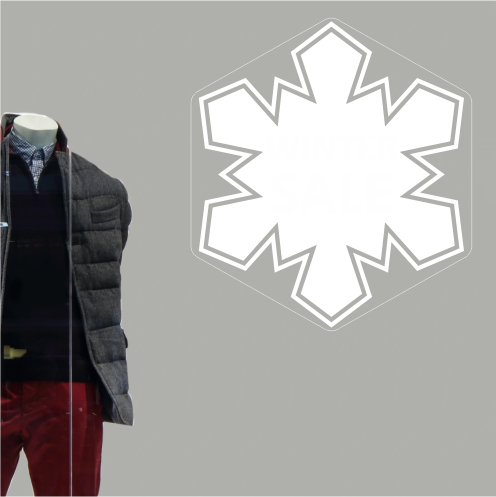 Snowflake Sale & Discount Sticker
