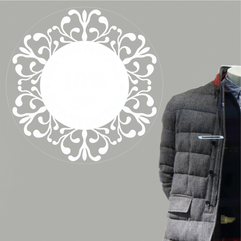 Circular 10% Discount Sticker