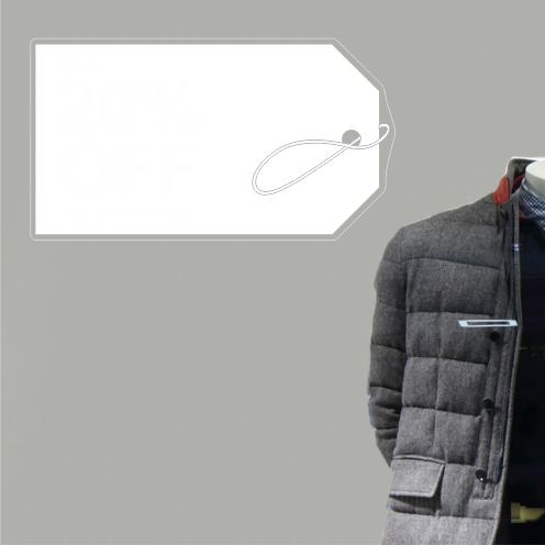 Label 20% Discount Sticker