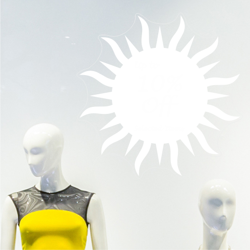 Sun 10% Discount Sticker