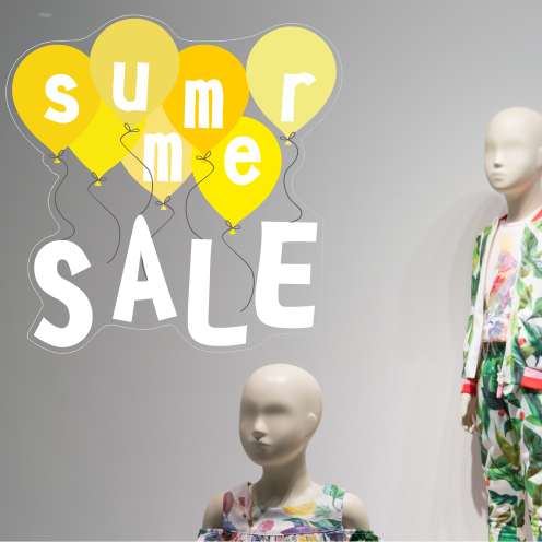 Yellow Summer Sale Balloon Sticker