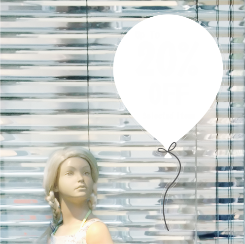 Balloon 20% Discount Sticker