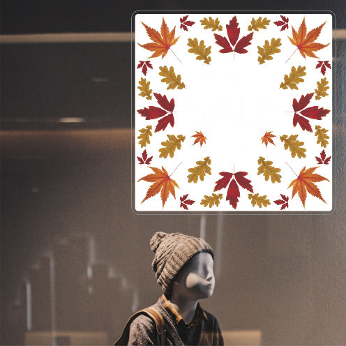 Photo Realistic Leaves Sale Square