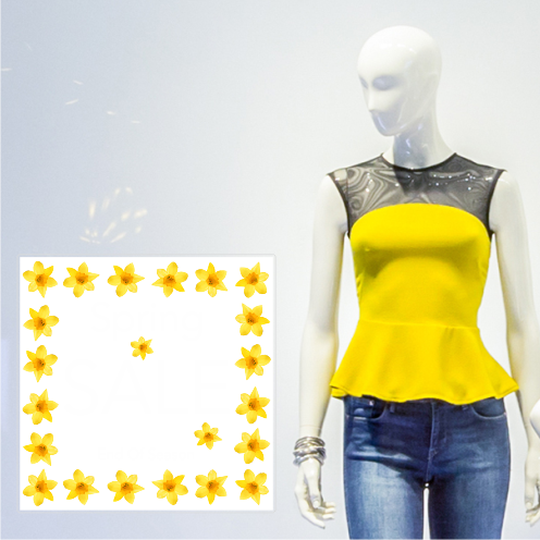 Daffodils Spring Sale Square