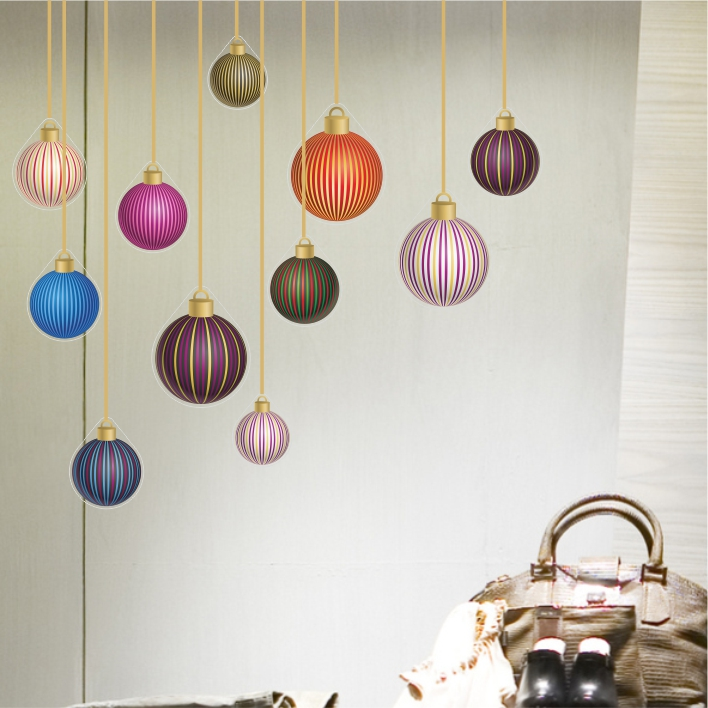 Stripy Bauble Multipack