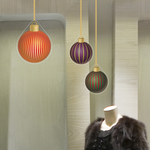 Large Stripy Baubles