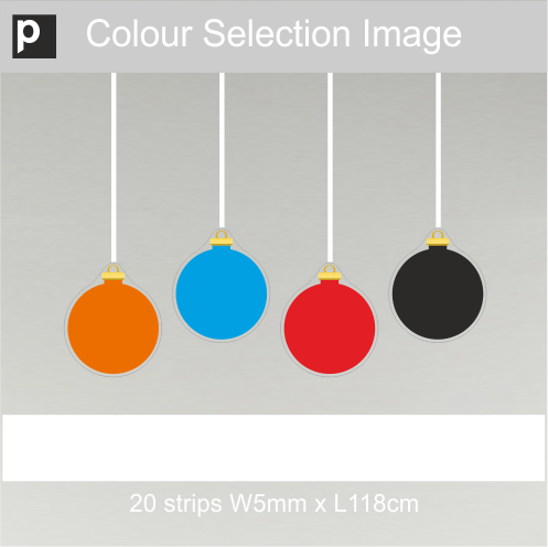 Coloured Ribbons For Stripy Baubles