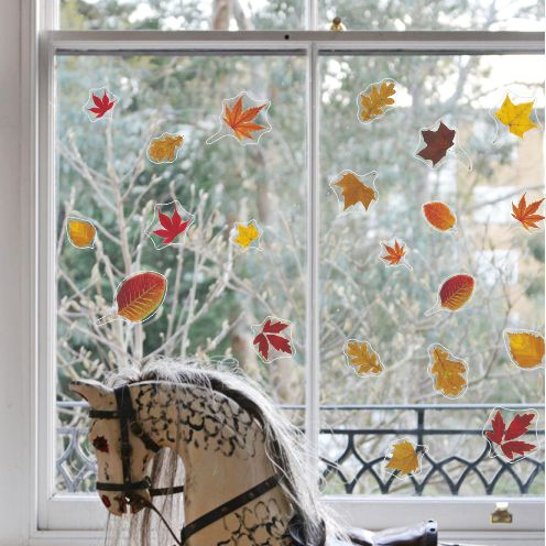 Leaves Decorative Window Stickers