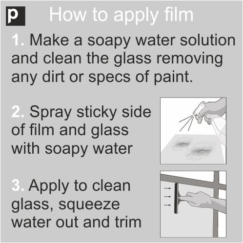 How to apply bathroom frosted film instructions