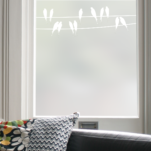 Birds on a Wire Border