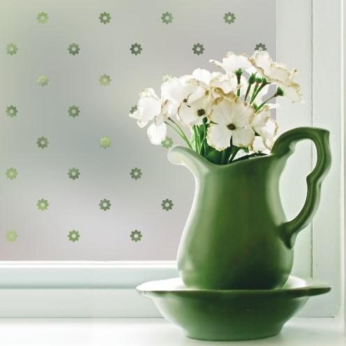 Window film on a kitchen window