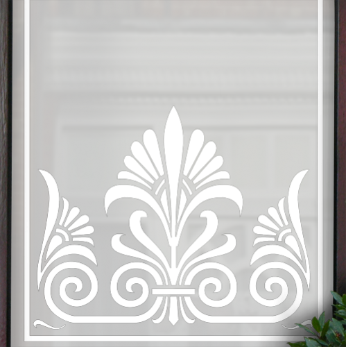 Edna Victorian Frosted Door Pattern