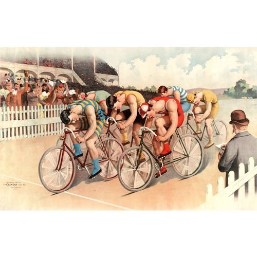 Bicycle Race Scene Wall Mural