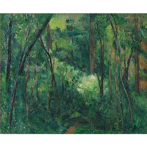 Cezanne, Interior of a Forest