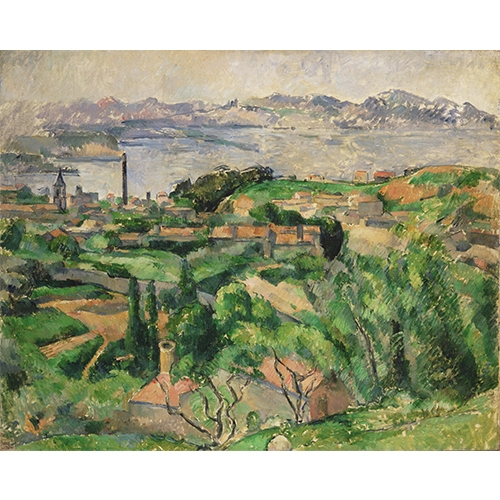 Cezanne view of the bay of marseille wall mural purlfrost for Bay view wall mural