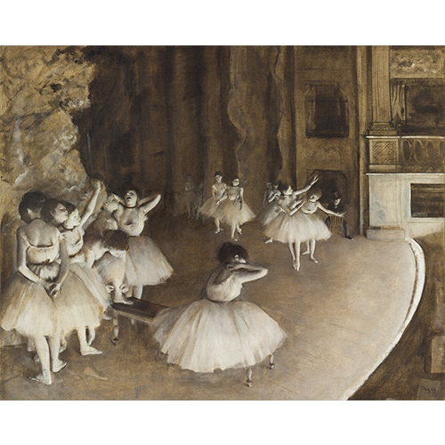 Degas, Ballet Rehearsal on Stage