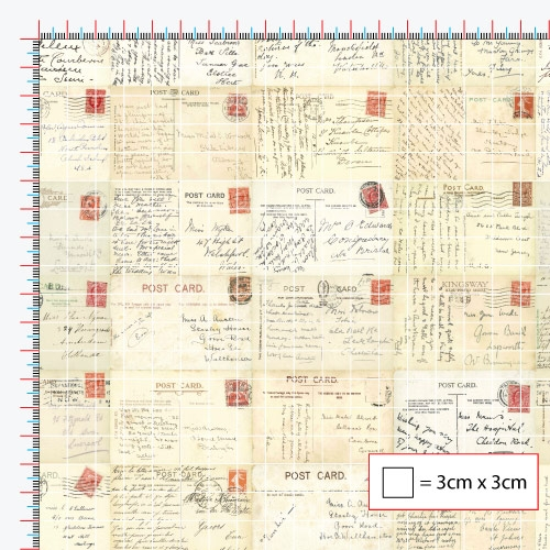Red Stamp Postcards Window Film