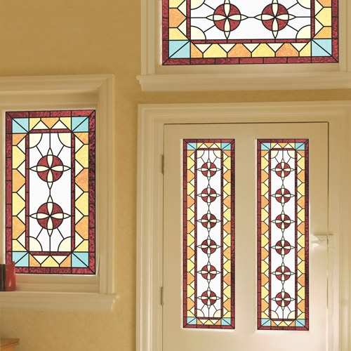 Emmeline c for Decorative window film stained glass victorian