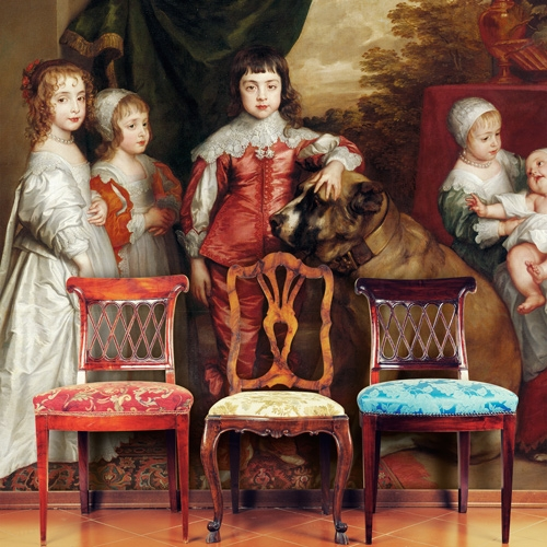 Van Dyck Five Eldest Children Of Charles I