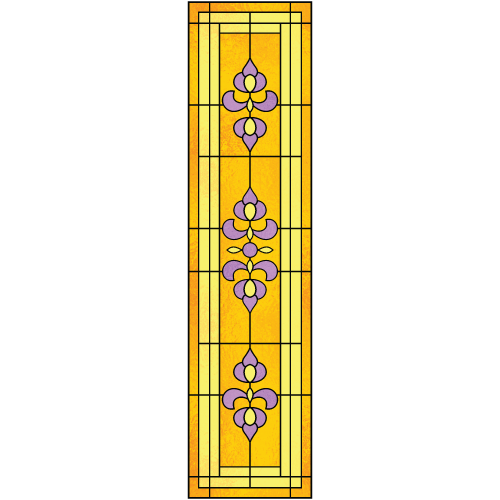 Victoria d for Decorative window film stained glass victorian
