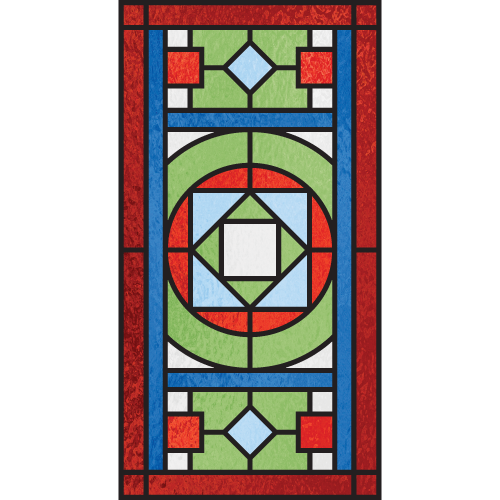 Gilbert b for Victorian stained glass window film