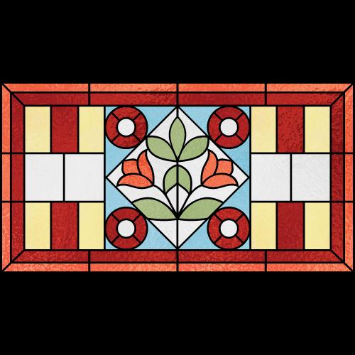 Aubrey c for Victorian stained glass window film