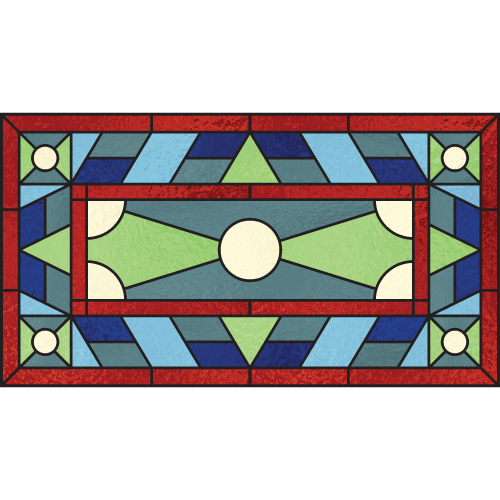 Josephine c for Victorian stained glass window film