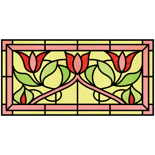 Millicent c for Victorian stained glass window film