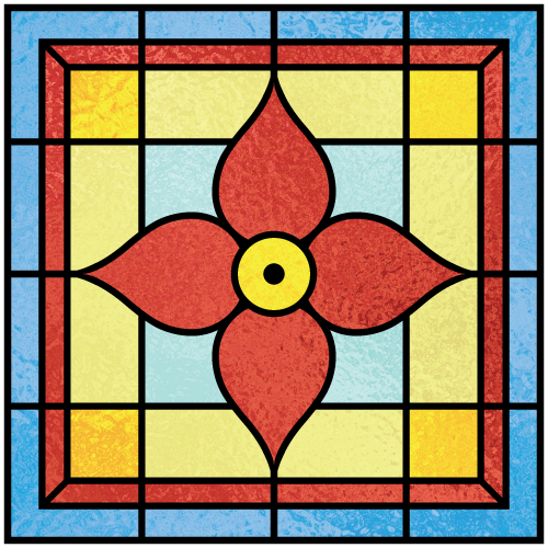 Beatrice a for Victorian stained glass window film