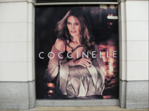 Coccinelle store window film installation